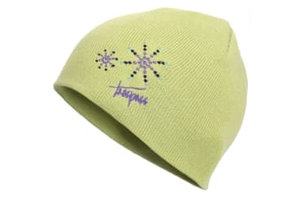 Trespass Childrens Girls Sparkle Knitted Beanie Hat (Pear)