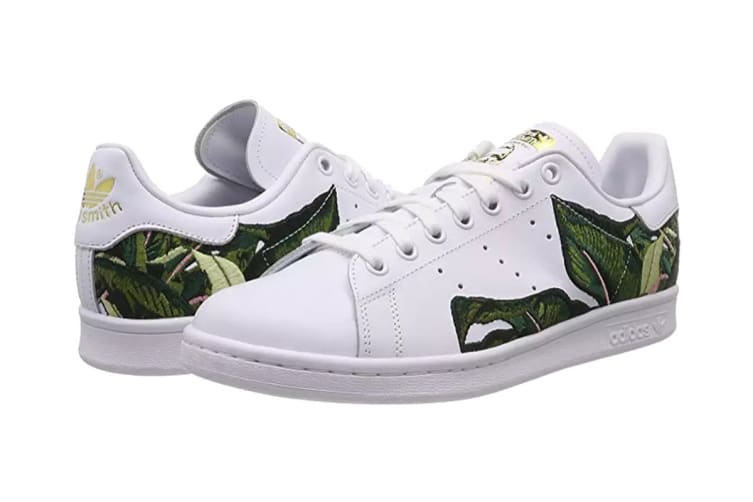 Adidas Originals x THE FARM Company Women's Stan Smith Shoes (White/Gold, Size 6.5)