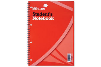Silvine A4 Students Wire Bound Exercise Books 60 Leaves (Pack of 12) (White) (One Size)