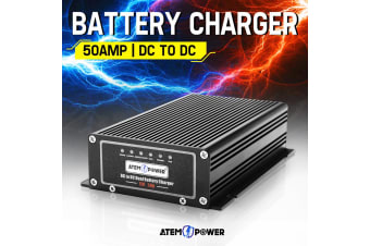 ATEM POWER 12V DC to DC 50A Battery Charger MPPT Dual Battery Isolator Solar AGM