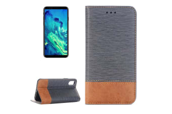 For iPhone XS X Wallet Case Toothpick Textured Durable Leather Cover Grey