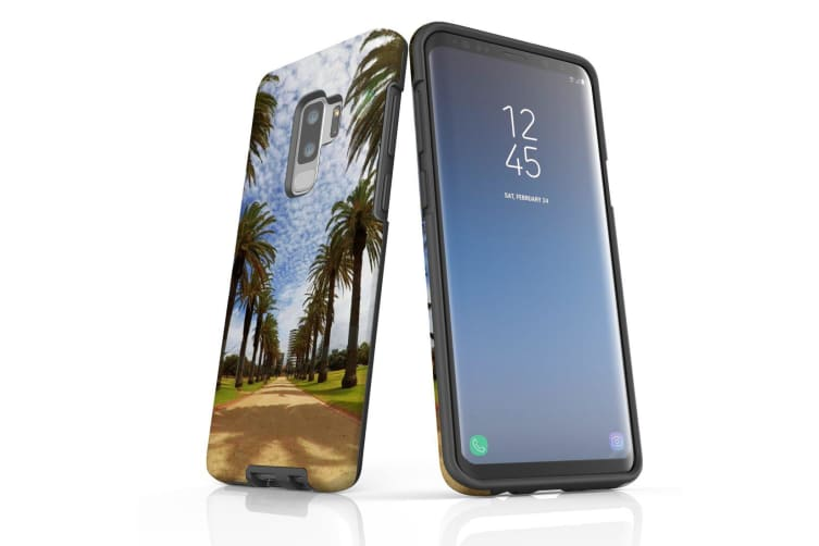 For Samsung Galaxy S9+ Plus Case Armour Cover  Palm Walkway Path
