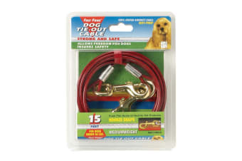 Four Paws Tie Out Cable (Red)