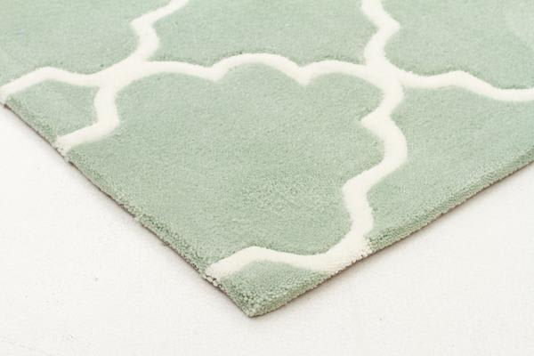 Kids Trellis Design Rug Sea Foam Green 165x115cm