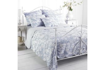 Riva Home Canterbury Tales Bedspread (Blue) (King)