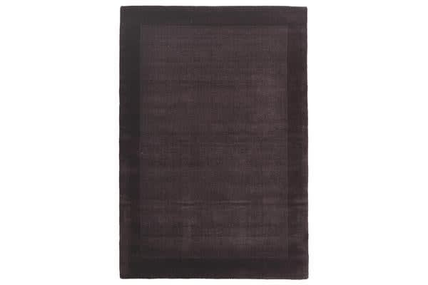 Cut and Loop Pile Rug Purple 165x115cm