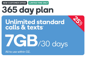Kogan Mobile Prepaid Voucher Code: MEDIUM (365 Days | 7GB Per 30 Days)