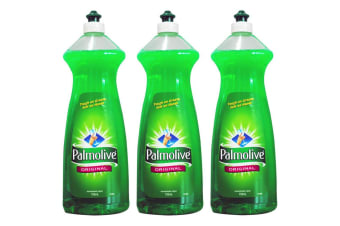 750ml x 3 Palmolive Original Dishwashing Liquid Detergent Wash Dishes Pots Pan Glass