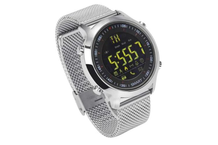 TODO Bluetooth V4 0 Smart Watch 1 12 Fstn Lcd Rechargeable Ip67 Remote  Camera - Silver