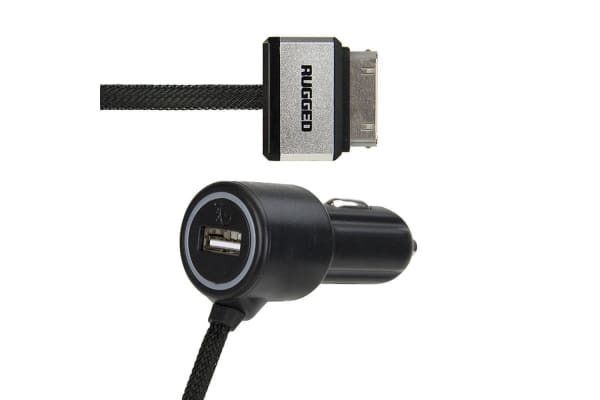 Gecko Rugged 30 Pin + USB Car Charger for Apple