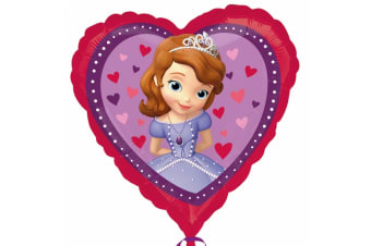 Anagram 18 Inch Disney Sofia The First Love Heart Shaped Foil Balloon (Purple/Pink)