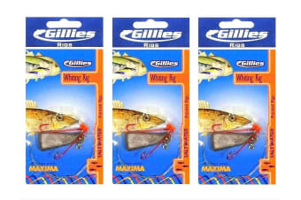 3 x Gillies Size 6 Pre-Tied Whiting Rigs with Chemically Sharpened Hooks