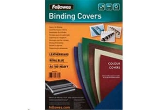Fellowes Cover Blue 100 Pack A4 Textured Binding 300 GSM