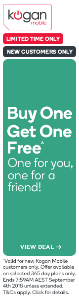 Buy One Free One - Extra Large & Large Plans 365 Day Kogan Mobile Plans