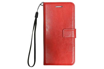 For iPhone 6S PLUS 6 PLUS Wallet Case Elegant Luxury Durable Leather Cover Red