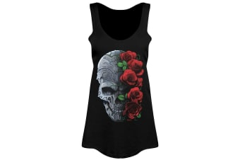 Requiem Collective Ladies/Womens Immortal Bloom Floaty Tank (Black)