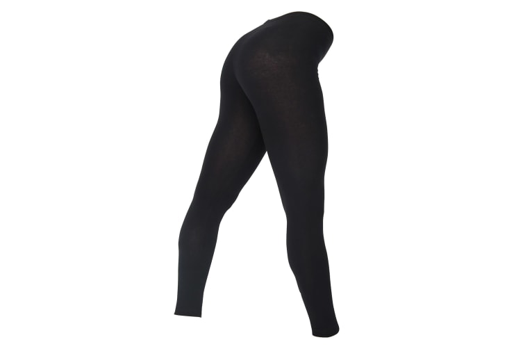 American Apparel Womens/Ladies Cotton Spandex Jersey Leggings (Black) (S)