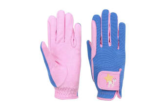 Little Rider Childrens/Kids Star in Show Riding Gloves (Prism Pink/Regatta Blue)