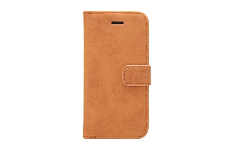 For Samsung Galaxy S9 Wallet Case Elegant Sheep Leather Protective Cover Brown