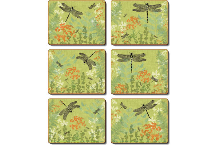 Cinnamon Dragonfly Delight Placemat Set of 6