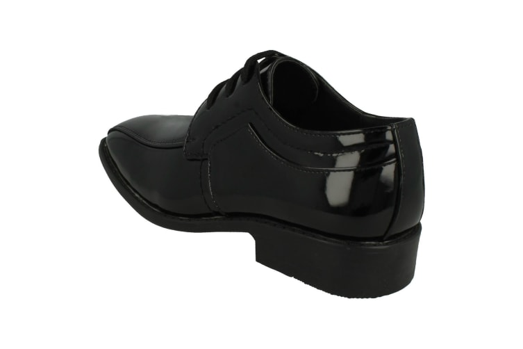 JCDees Childrens Boys Trendy Lace Up Formal Shoes (Black) (UK Size 1)