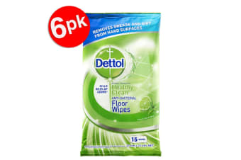 90PK Dettol Floor Cleaning Disinfectant/Antibacterial Lime/Mint Wet Wipes/Pads