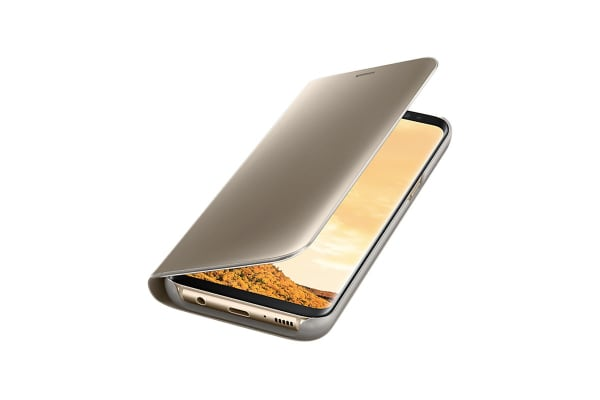 Samsung Galaxy S8 Clear View Stand Cover (Gold)