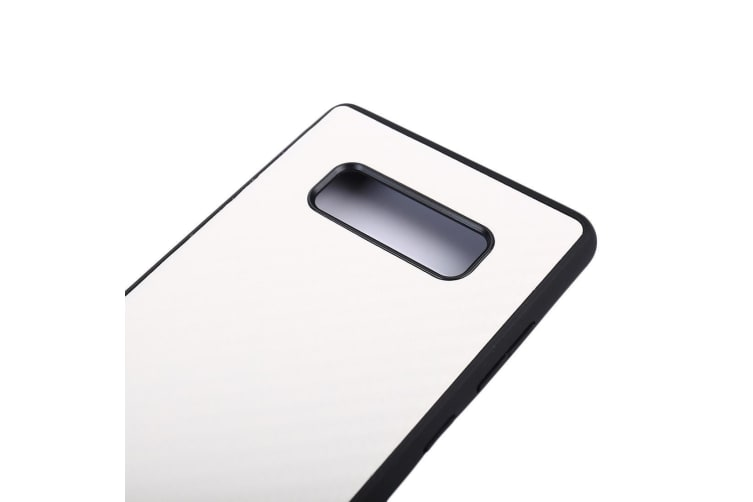 For Samsung Galaxy Note 8 Case Elegant Twill Texture Durable Leather Cover White
