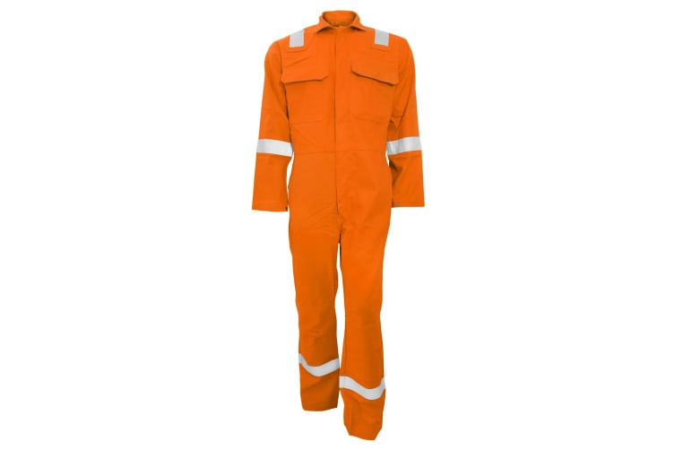 Portwest Bizweld Iona Flame Resistant Work Overall/Coverall (Orange) (XL/R)