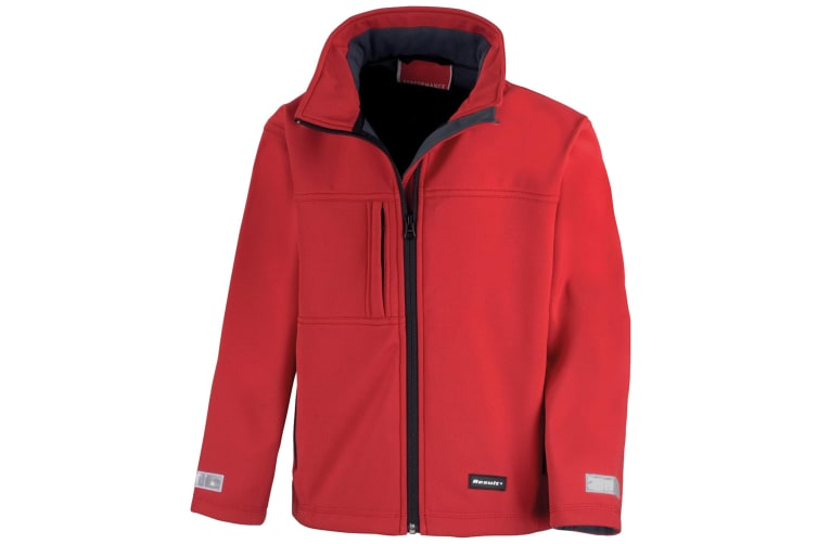 Result Childrens Unisex Waterproof Classic Softshell 3 Layer Jacket (Red) (M)