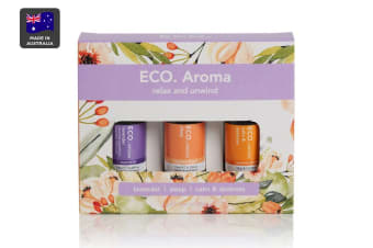 ECO. Relax and Unwind Oil Trio (Lavender, Calm & Destress Blend & Sleep Blend)