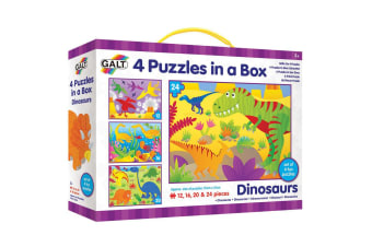 Galt Four Puzzles in a Box - Dinosaurs