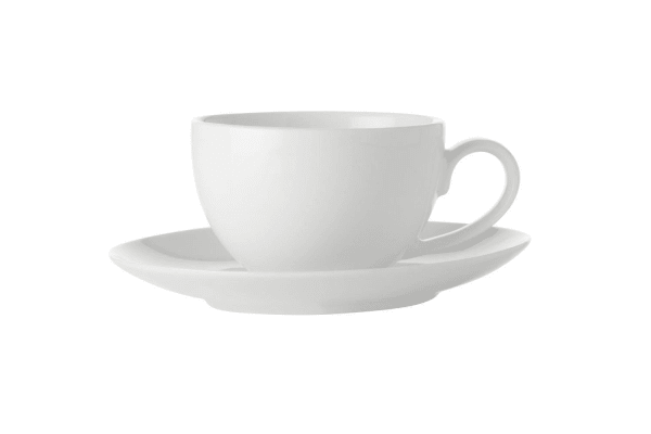 24pc Maxwell Williams White Basics Coffee Cup & Saucer Set 100ml Porcelain Tea