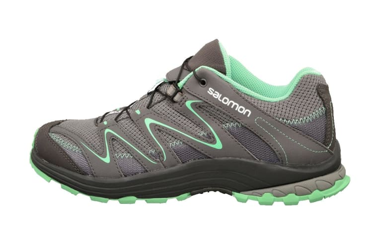 Salomon Women's Trail Score W (Light Grey/ Mint, Size 5)