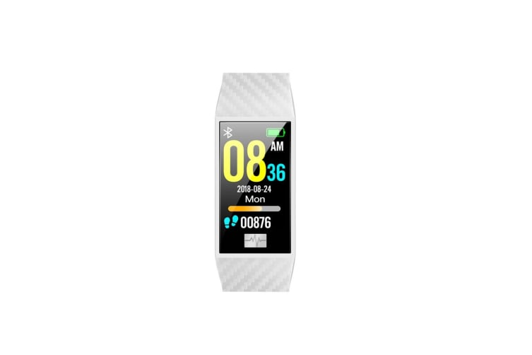 Heart Rate Monitor Smart Watch Blue-Tooth Ecg Sport Pedometer Dt58 White