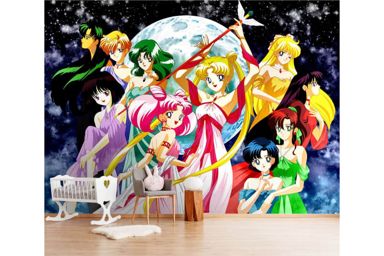 3D Beautiful Moon Girl 35 Anime Wall Murals Woven paper (need glue), XXXL 416cm x 254cm (WxH)(164''x100'')