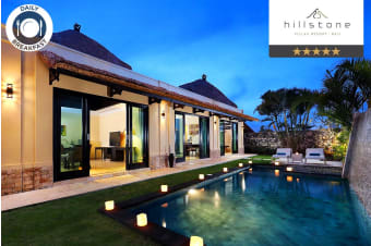 BALI: 3, 5 or 7 Nights at Hillstone Villas Resort Private Pool Villa for Two or Four