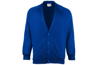 Maddins Childrens Unisex Coloursure Cardigan / Schoolwear (Royal) (24)