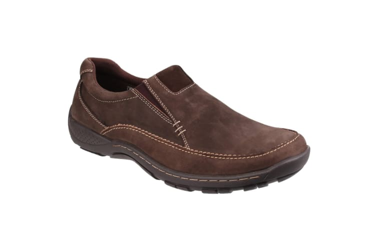Cotswold Mens Twyning Slip On Elasticated Loafers (Coffee) (6 UK)