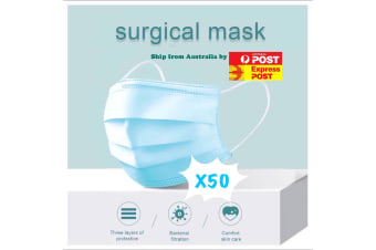 50 X Protective Disposable Face Mask Medical Masks 3 layers