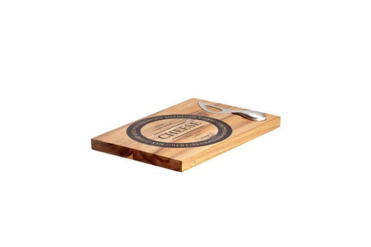 Salt & Pepper Fromage Wooden Cheese Board with Stainless Steel Knife