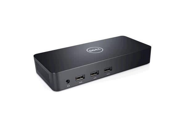 Dell D3100 USB3.0 Universal Docking Station/Port Replicator - UHD 4K - S&P - for Notebook - 5 x