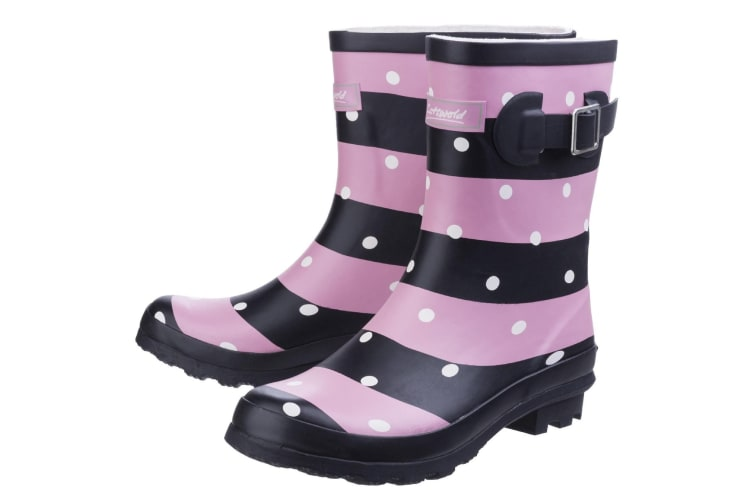 Cotswold Womens/Ladies Badminton Patterned Waterproof Wellies (Stripe) (4 UK)