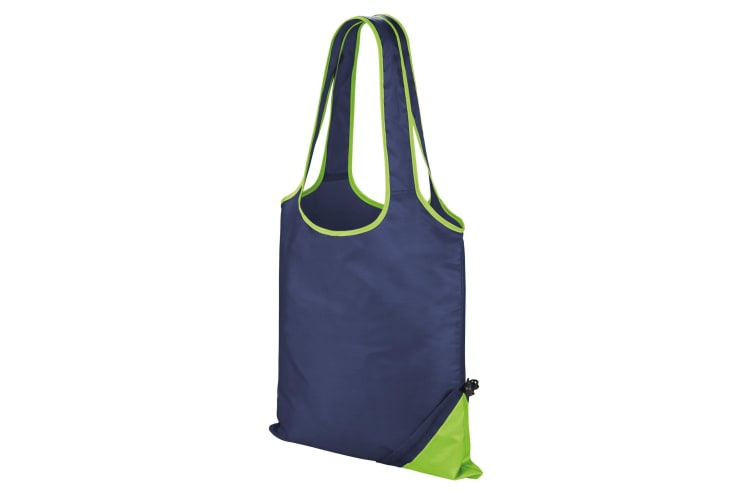 Result Core Compact Shopping Bag (Pack of 2) (Navy/Lime) (One Size)