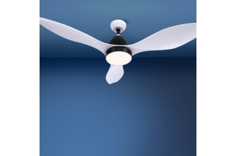 48'' Ceiling Fan With Light Remote Control Fans 3 Blades 1300mm DC Motor White