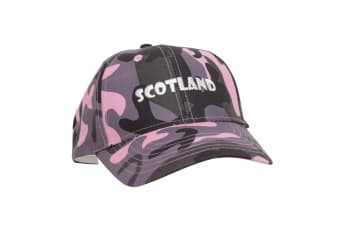 Ladies/Womens Scotland Embroidered Camouflage Baseball Cap (Pink Camouflage) (One Size)