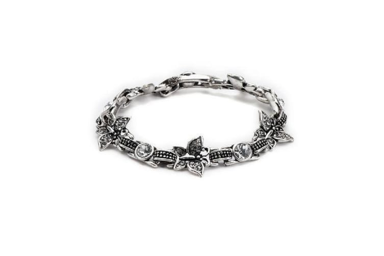 Intrigue Womens/Ladies Butterfly Link Bracelet (Silver) (One Size)