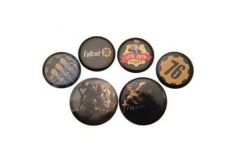 Fallout 76 Button Badge Set (Multicoloured) (One Size)