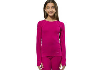 XTM Kid Unisex Thermal Tops Merino Kids Top Deep Pink - 6