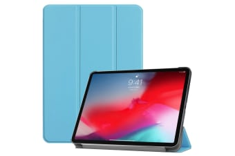 For iPad Pro 11 Inch (2018) Case Blue Karst Texture PU Leather Folio Cover
